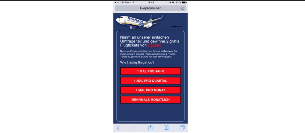WhatsApp Kettenbrief Ryanair Frage 2