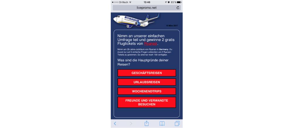 WhatsApp Kettenbrief Ryanair Frage 4