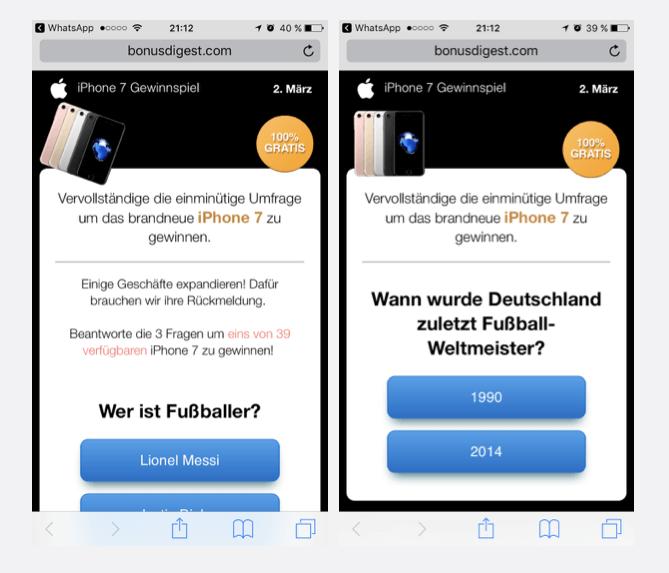 WhatsApp Kettenbrief Umfrage
