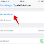 iPhone Codesperre einrichten 2