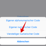 iPhone Codesperre einrichten 4