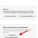 iPhone Datensicherung mit iTunes Windows 4