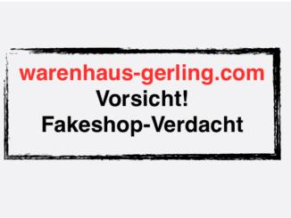 warenhaus-gerling.com Fakeshop Verdacht