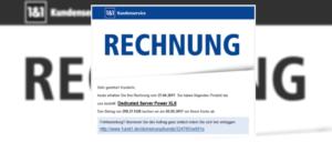 1und1 Rechnung Phishing-Angriff