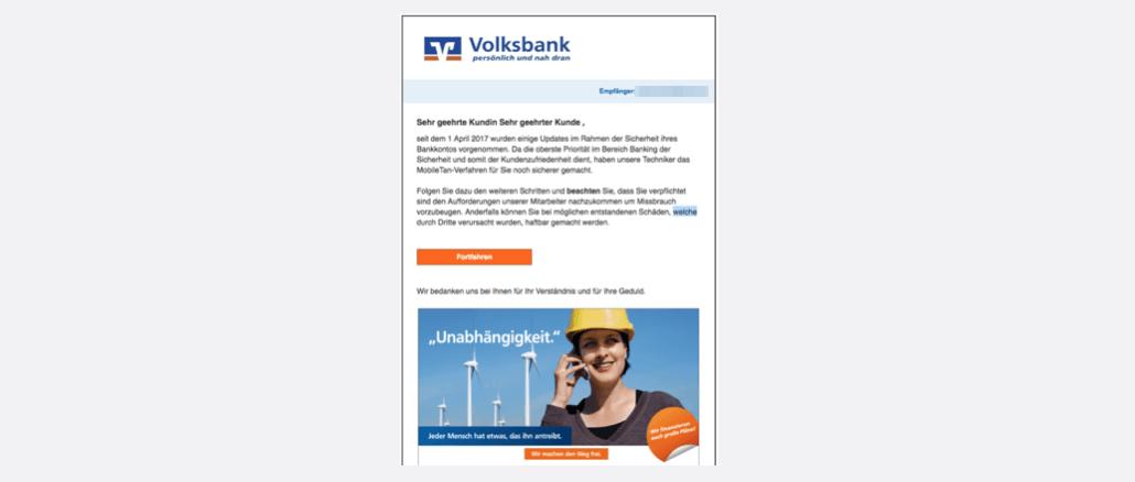 2017-04-14 Volksbank Spam Kundenmitteilung-Sicherheitsprüfung erforderlich