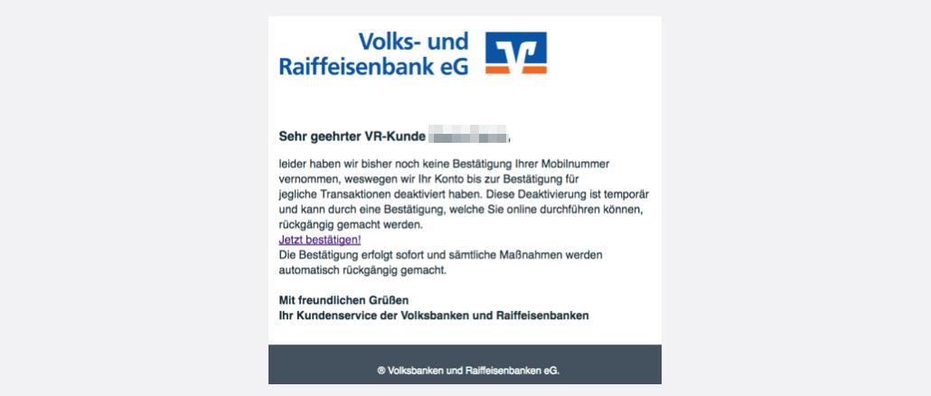 Volksbank Spam Aktuell Diese Phishing Mail Sind Im Umlauf Update