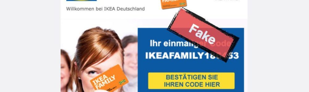 E-Mail: 500 Euro Möbelgutschein für IKEA ist eine Täuschung (Update)
