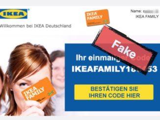 500 Euro Geschenkgutschein IKEA Fake Mail