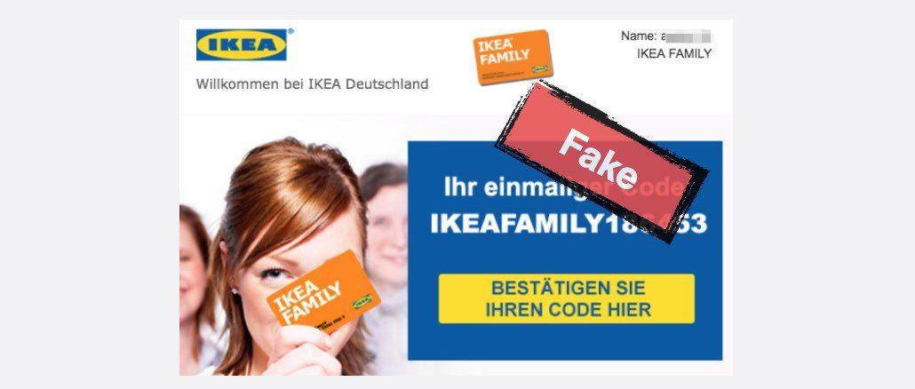 E Mail Werbung Für 500 Euro Möbelgutschein Von Ikea Ist Fälschung