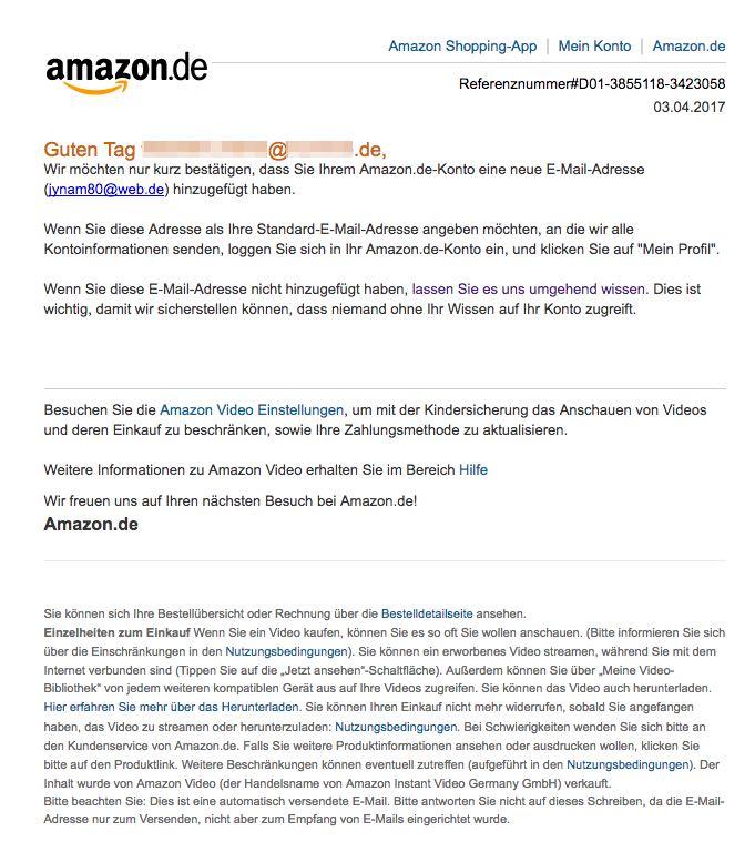 Amazon Email Adresse