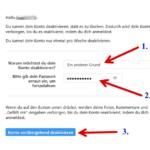Anleitung Instagram Konto deaktivieren 4