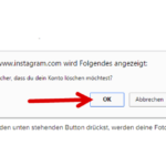 Anleitung Instagram löschen 4
