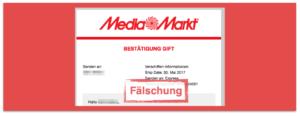 Betrug Werbung Gewinnspiel Media Markt Rabattkarte
