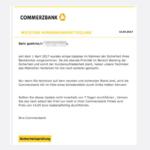 Commerzbank Phishing E-Mail Kunden Aktualisierung erforderlich