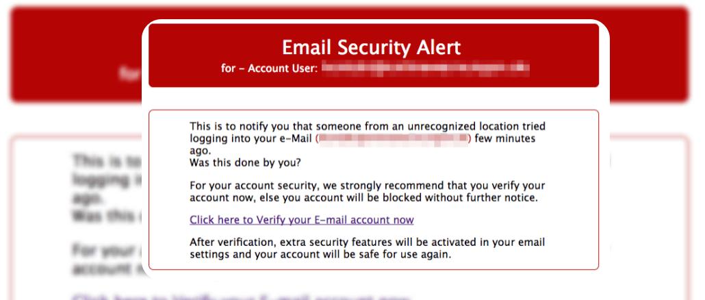 E-Mail Phishing Mail