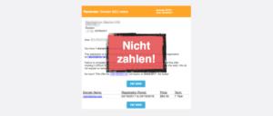 Fake-Rechnung Domain Notification SEO Service Registration Corp