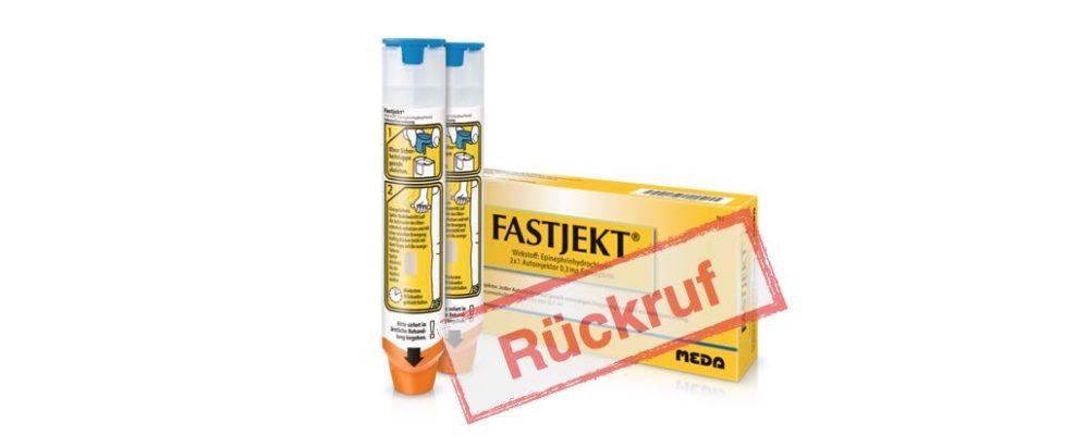 Rückruf Notfall-Pen: Fastjekt (junior)-Injektoren von Meda mit Problemen bei der Aktivierung