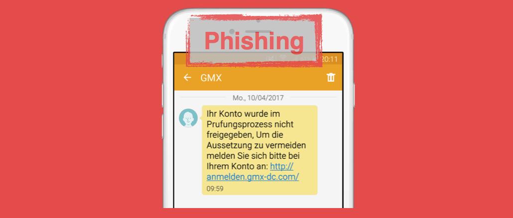 GMX Phishing SMS
