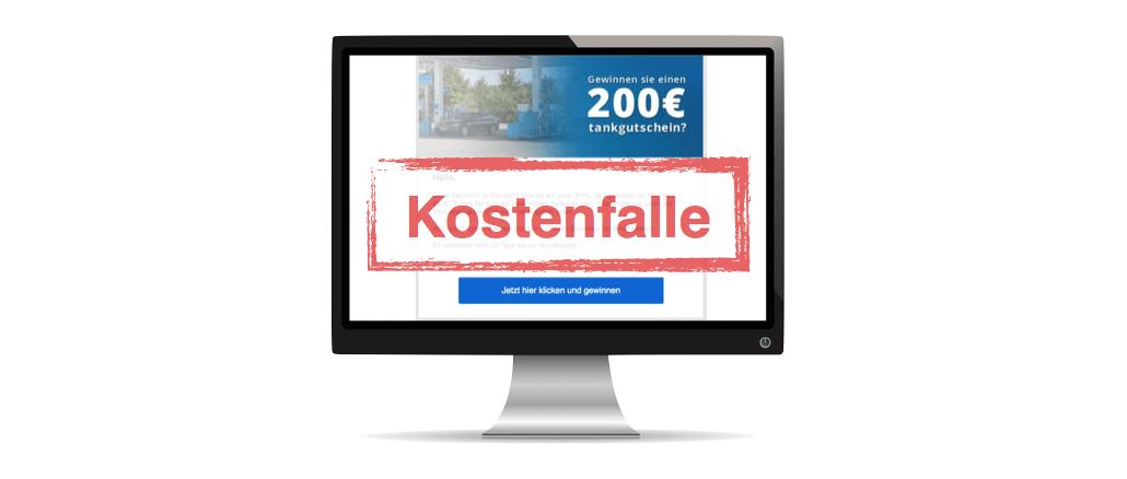 Gewinnspiel E-Mail Spam ARAL-Tankgutschein 200 Euro Kostenfalle