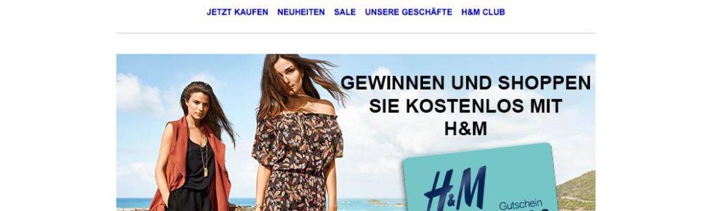 Achtung bei dieser E-Mail im Namen von H&M: Ihr Gutschein liegt zur Abholung bereit – Datensammler
