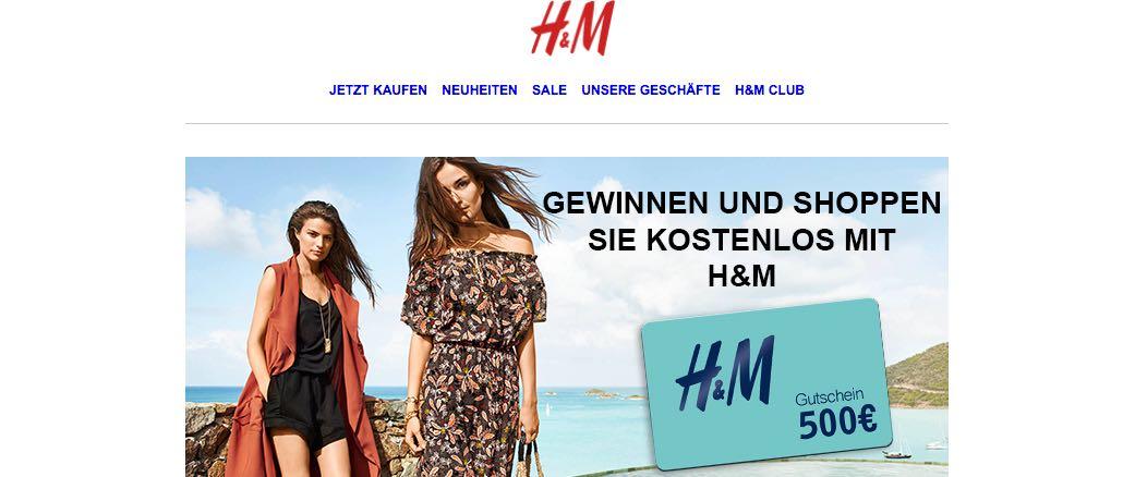 H&M Kundenumfrage Gewinnspiel