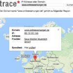 IP-Adresse von Webseiten anzeigen