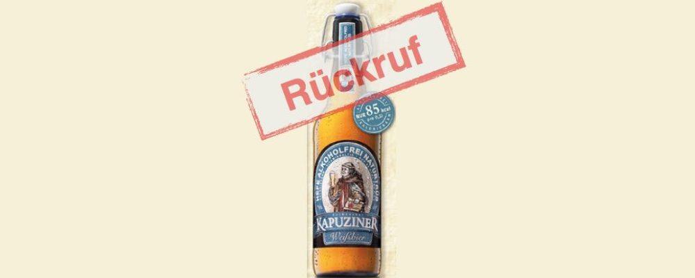 Kulmbacher Brauerei ruft Kapuziner Weißbier alkoholfrei zurück