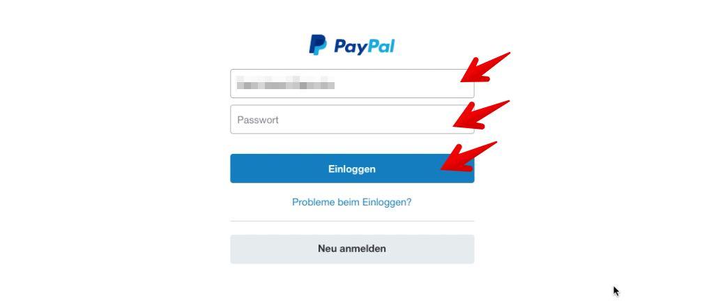 paypal passwort ändern funktioniert nicht
