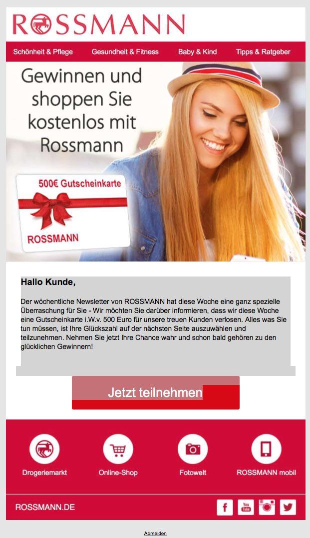 Rossmann Gutscheinkarte