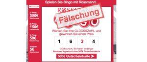 Rossmann Gutscheinkarte gewinnen