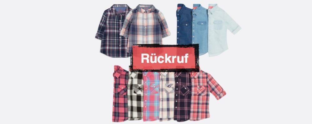 Primark Rückruf: Hemden und Blusen für Jungen und Mädchen