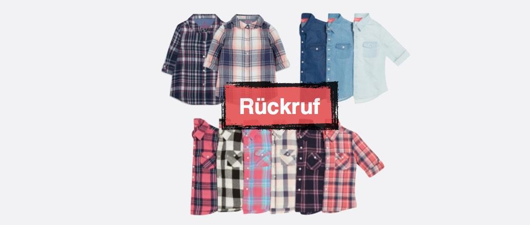 Rückruf Primark Hemden Blusen Kinder