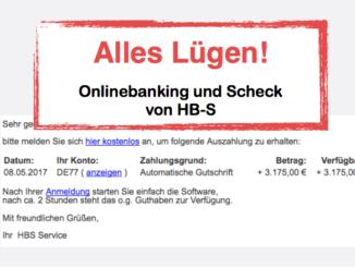 Spam Mail Fake Onlinebanking Auszahlung Scheck Mitteilungen