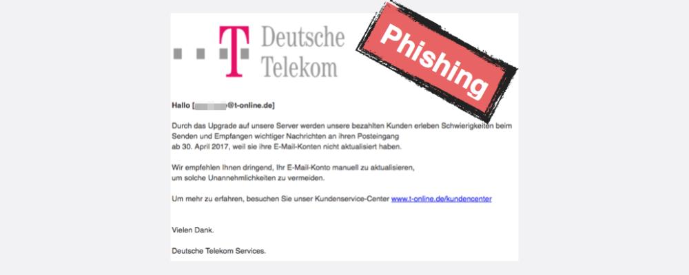 T-Online: Dringend eine Bestätigung erforderlich ! ist Phishing (Update)