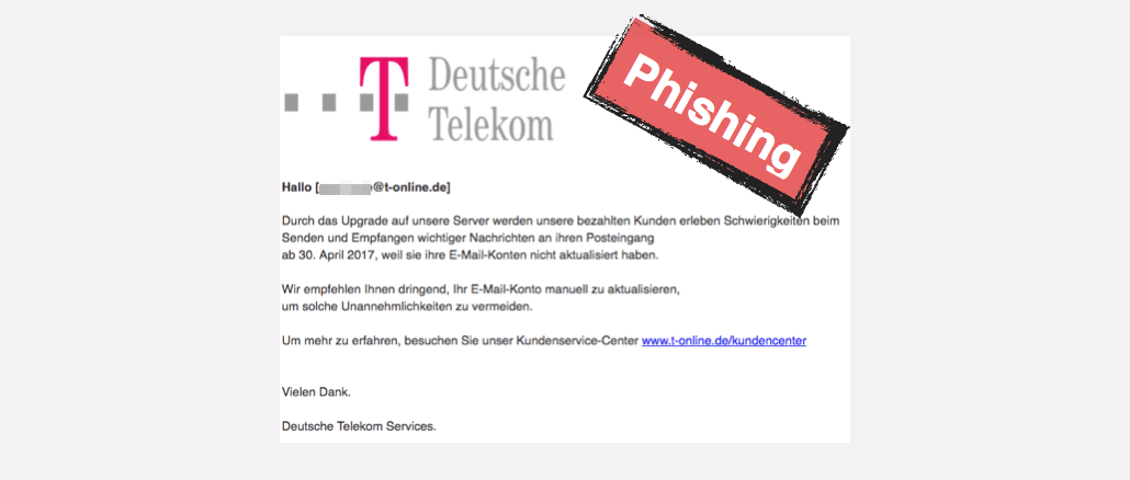 t online phishing e mail ihre mailbox wurde gesperrt ist betrug. Black Bedroom Furniture Sets. Home Design Ideas