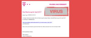 Telekom Spam Virus in Festnetz-Rechnung