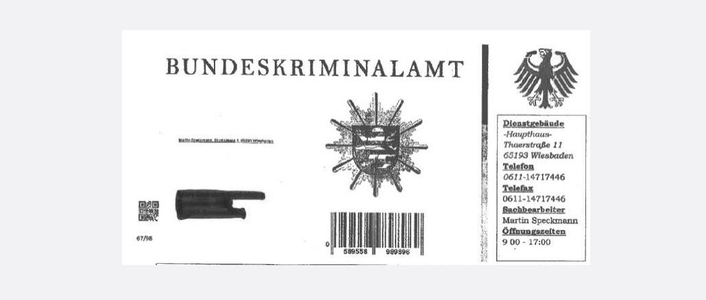 Vorsicht Falle- Brief Bundeskriminalamt Faelschung