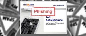 Warnung Ing-DiBa Spam Phishing Informationen zu Ihrem DiBa-Konto