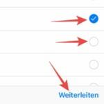 WhatsApp Nachrichten weiterleiten - iOS