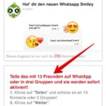 WhatsApp Smiley Spam 13 Freunde Teilen