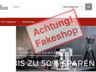 diekaffeefee.de: Fakeshop mit kopierten Impressum-Daten