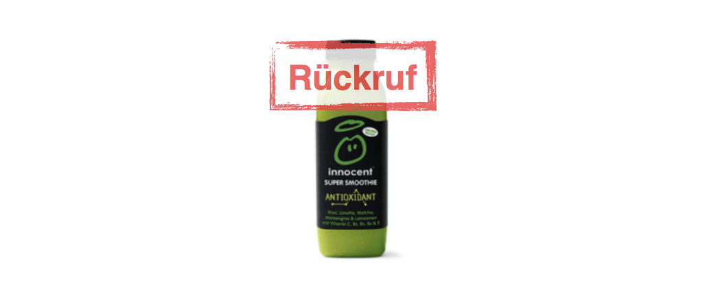 innocent Rückruf von Super Smoothie Antioxidant