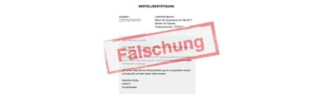 Vorsicht Spam: E-Mail mit Betreff Tracking Nummer: und Bestellbestätigung für iPhone 7