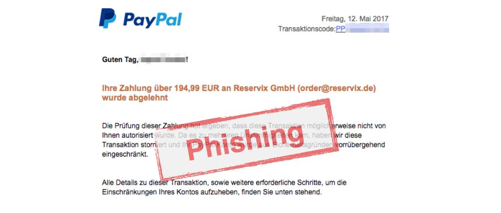 2017-05-12 PayPal Phishing