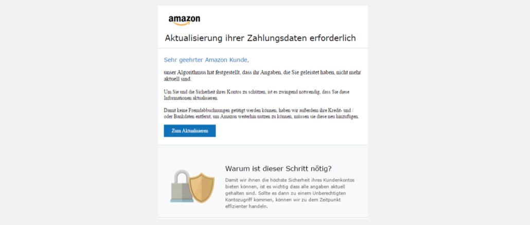 2017-05-13 Spam Amazon Aktualisierung ihrer Zahlungsdaten erforderlich