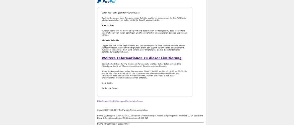 2017-05-23 PayPal Phishing