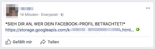 2017-08-07 Facebook Spam SIEH DIR AN WER DEIN FACEBOOK-PROFIL BETRACHTET