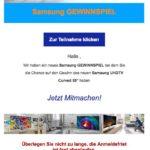 2017-08-25 Spam-Mail Samsung Gewinnspiel TV