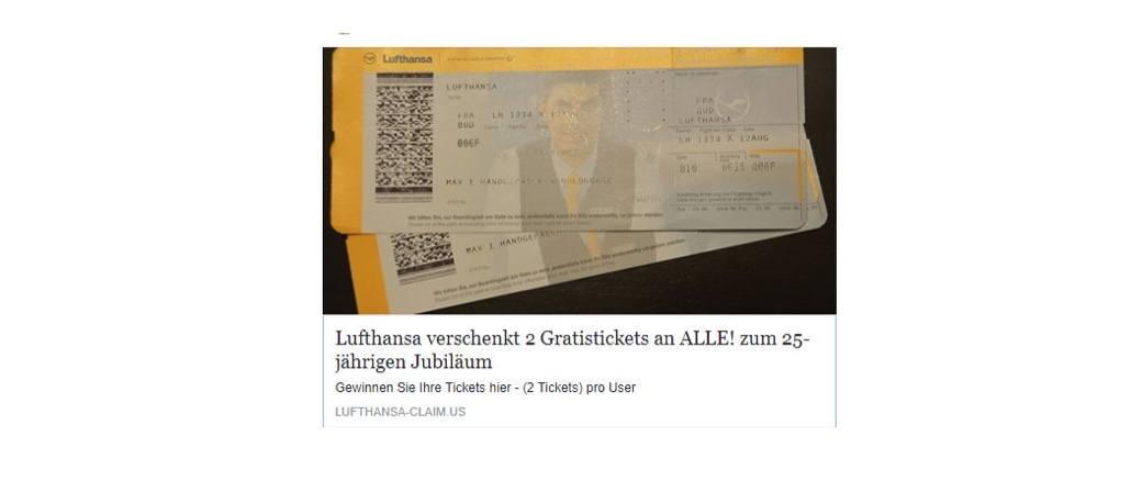 2017-09-27 Lufthansa Tickets Gewinnspiel