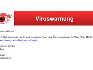 2018-03-21 Viruswarnung gefälschte Telekom-Mail Festnetzrechnung